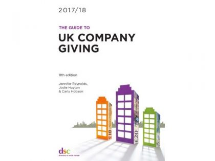 UK companies gave £420m to charities, says new edition of DSC company giving guide