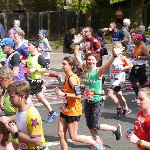 Macmillan marathon runner