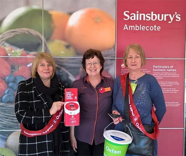 Oxfam and Sainsbury's trial contactless giving boxes