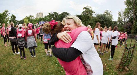 Hug at CRUK's Race for Life