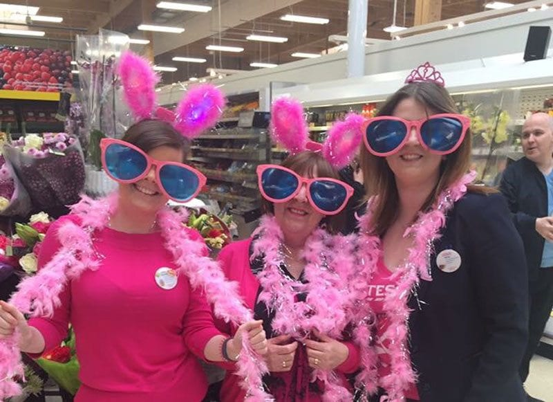 Tesco turns pink for Cancer Research UK