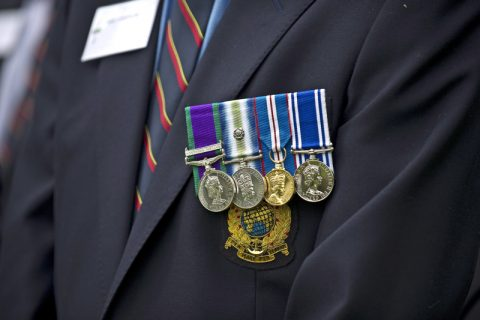 Medals on a veteran's suit - photo: Ministry of Defence