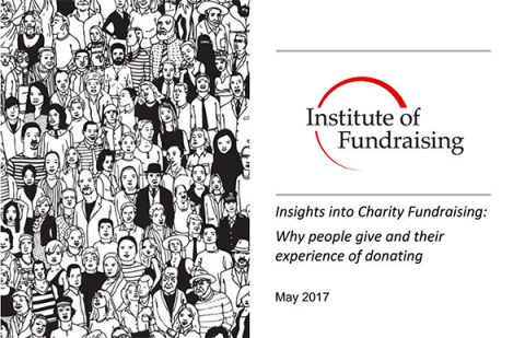 Cover of IOF research on giving to charity