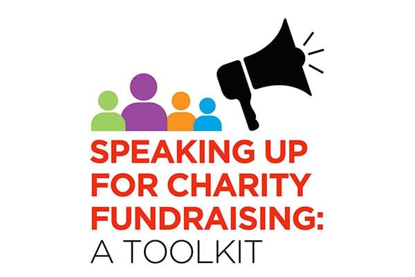IoF's Speaking Up for Charity Fundraising toolkit - cover