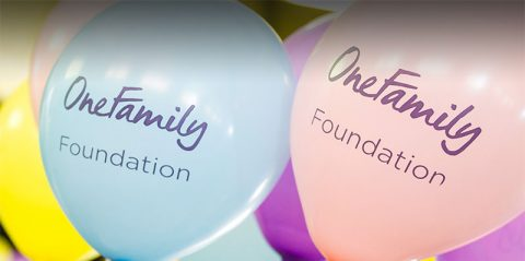 One Family Foundation balloons