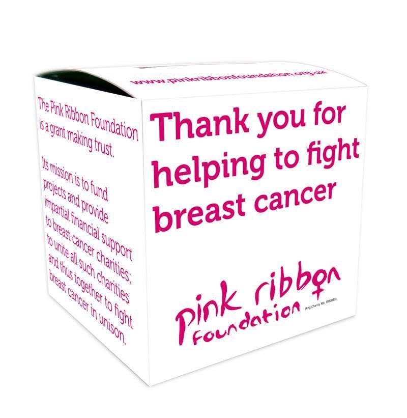 Pink Ribbon Foundation home collection box
