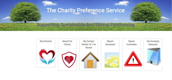 charity preference service