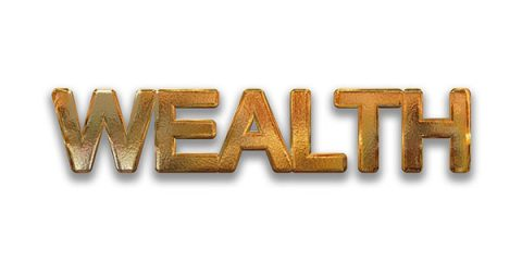 Wealth, in gold lottering - Pixabay