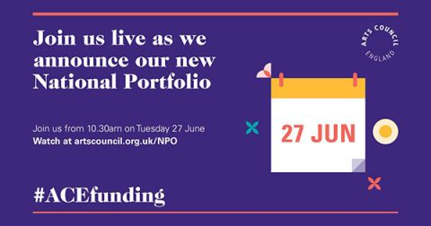 Live stream announcement by ACE of National Portfolio organisations 2018-2022