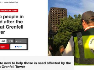 British Red Cross sets up Grenfell Tower fire fundraising appeal