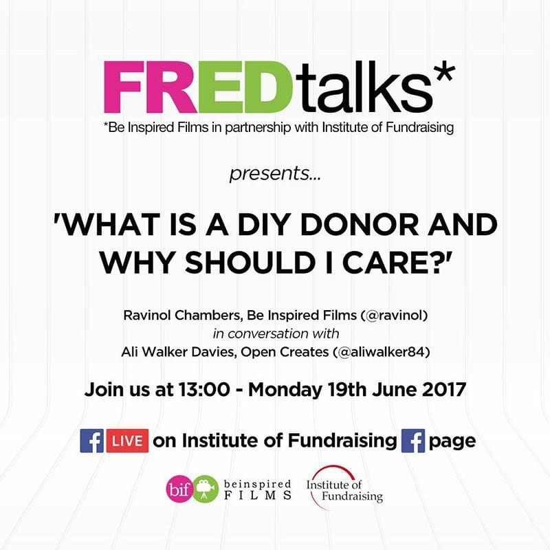 FREDtalks - what is a DIY donor and why should I care?