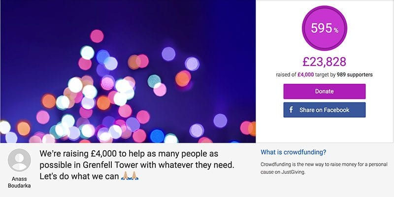 JustGiving appeal by Anass and Bochra Boudarka