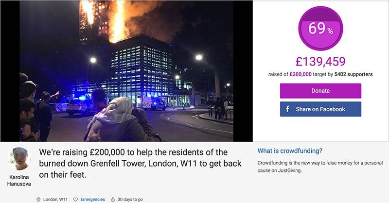 Karolina Hanusova's appeal for the families of Grenfell Tower