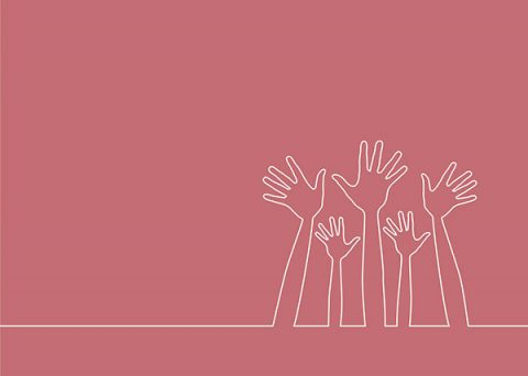 Hands up together