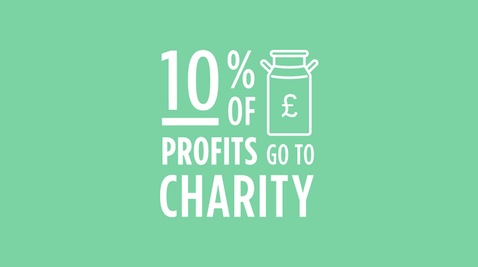 Jude's donations 10% of its profits to charity