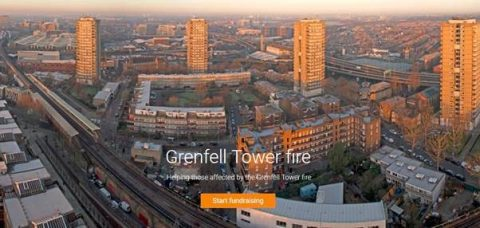 JustGiving's list of Grenfell Tower fire emergency appeals - photo: londonfromtherooftops.com
