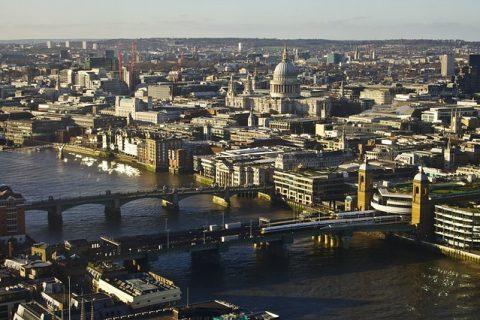 london skylie aerial view