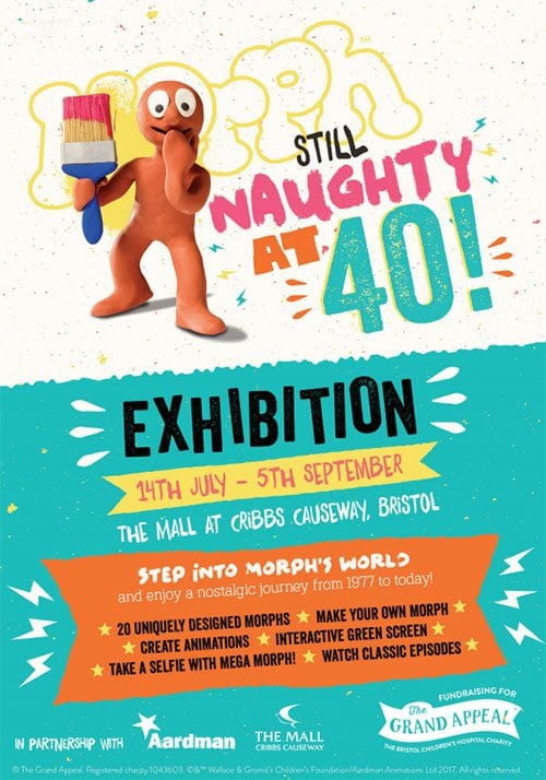 Morph: Naughty at 40 exhibition poster
