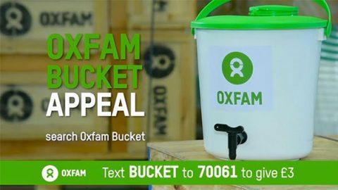 Still from Oxfam bucket appeal on DRTV