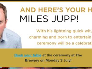 Miles Jupp to host IoF National Fundraising Awards