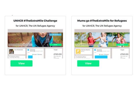 #TheExtraMile campaign for UNHCR - two campaigns on GivePenny's site