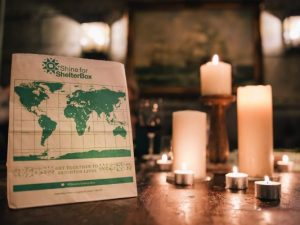 ShelterBox asks people to hold a candlelit fundraising feast