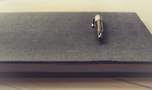 notepad pen paper