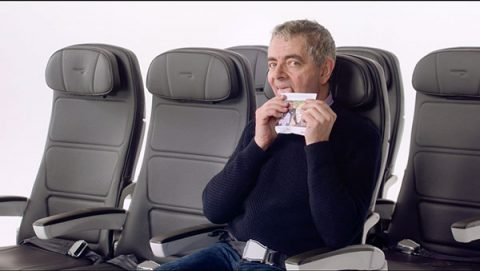 Rowan Atkinson in British Airways pre-flight safety video for Comic Relief