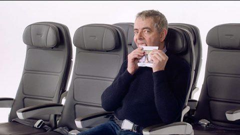 Rowan Atkinson in British Airways pre-flight safety video for Comic Relief