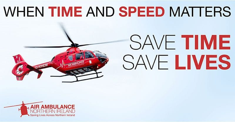 Air Ambulance NI - when time and speed matter, save time, save lives