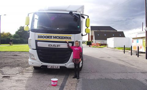 Brooke McKenna and her Nisa lorry