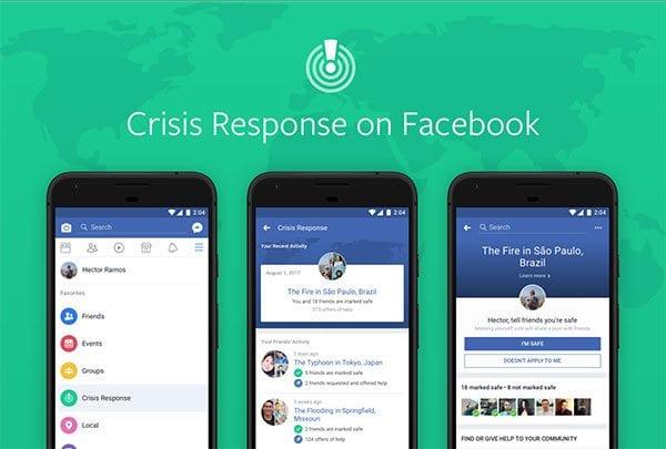 Crisis Response centre on Facebook