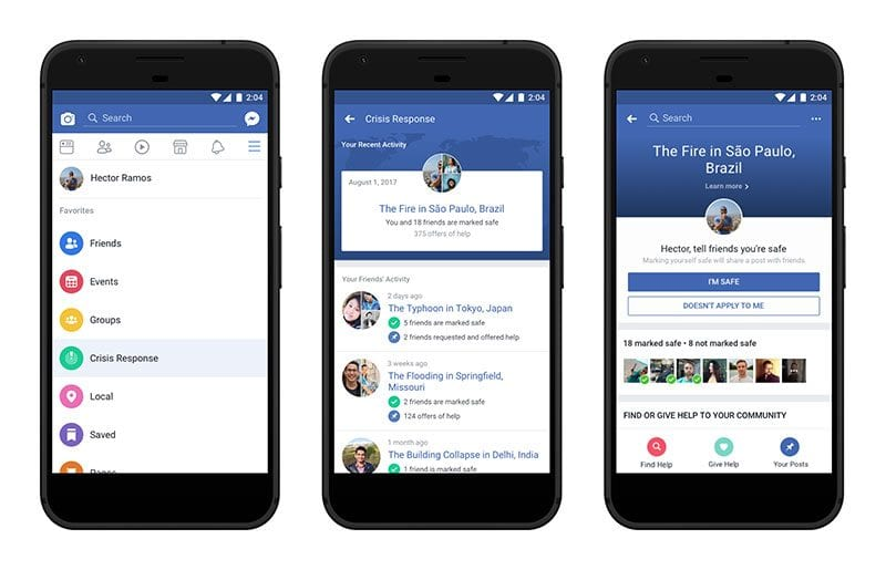 Facebook Fundraisers included in its Crisis Response ...