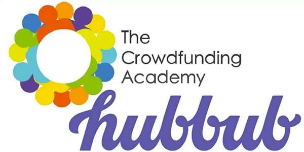 Crowdfunding Academy and Hubbub logos
