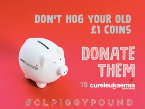 Cure Leukaemia appeals for old pound coins throughout Blood Cancer Awareness Month