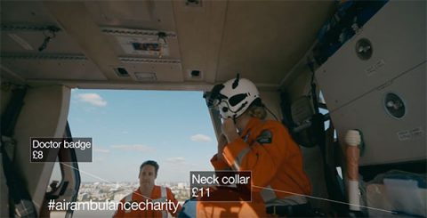 Interior of London's Air Ambulance, from charity's video