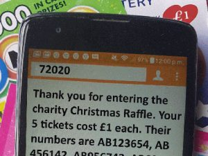 Society lottery short codes for mobile phones to be ready for Christmas?