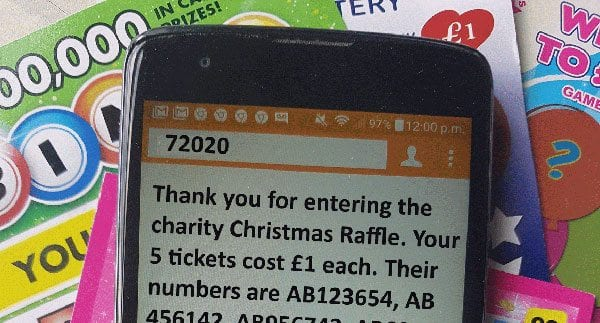 Mobile society lottery code - simulation by RMS 2000