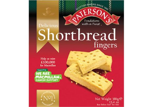 Paterson's Shortbread with on pack promotion for Macmillan Cancer Support
