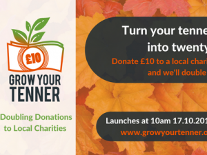 Grow your Tenner 2017 raises almost £670,000 in a week