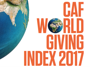 2017 CAF World Giving Index reveals slight drop in UK & global generosity