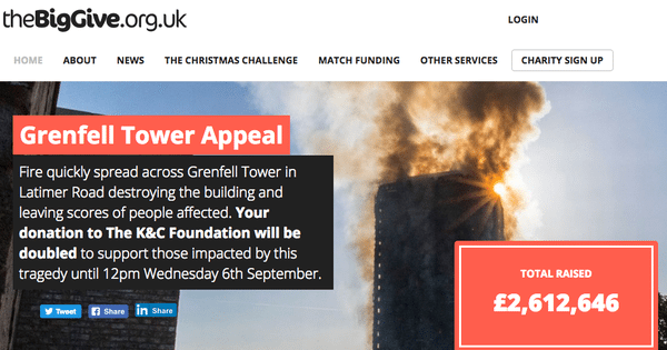 grenfell tower big give
