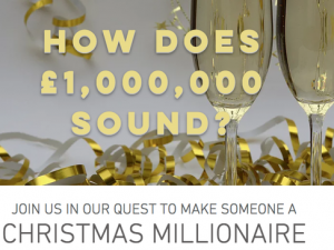 Win a million competition aims to raise £20,000 for cancer charity