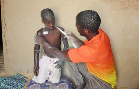 Nine year old Souleymane receives help from ICRC