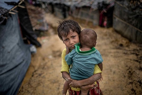 Two Rohingya children - photo: DEC