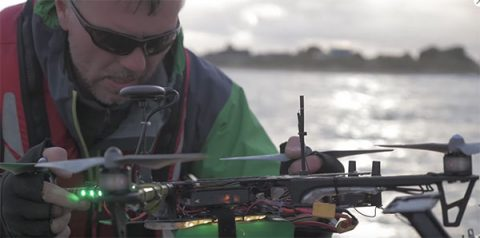 Drone in use by Caister Lifeboat