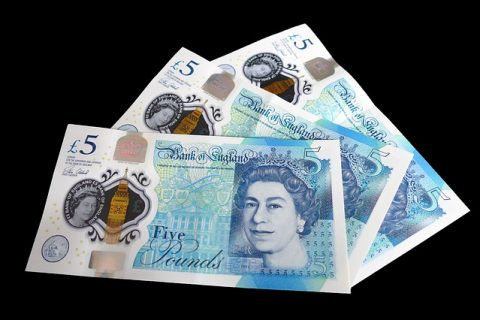 five pounds notes
