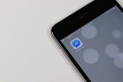 Facebook Messenger on screen