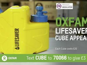 Oxfam launches integrated DRTV campaign for the Lifesaver Cube