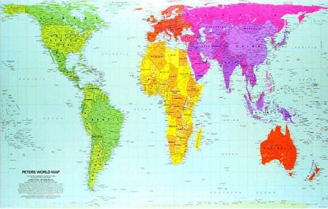 Peters Projection map - image: Perrenque on Flickr.com